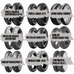 AVON - COBRA CHROME BRIDGESTONE - HYPERSPORT S22 (Sport) BRIDGESTONE - ADVENTURECROSS AX41 & AX41S & E50 CONTINENTAL - TRAILATTACK 3 (Enduro Street) CONTINENTAL - CONTISCOOT & SCHLÄUCHE DUNLOP - SPORTSMART MK3 (Hypersport) DUNLOP - ROADSPORT 2 (Sporttouring) METZELER - CRUISETEC (Custom/Touring) METZELER RACETEC RR SLICK - NEUE MISCHUNG (Racing) MICHELIN - ANAKEE ADVENTURE (Enduro Street) MICHELIN - POWER RS+ (Supersport) / ROAD 5 (Update) MICHELIN - TRACKER (Offroad) PIRELLI - ANGEL GT II (Sporttouring) PIRELLI - DIABLO™ SUPERCORSA SP V3 & SC V3 (Racing)